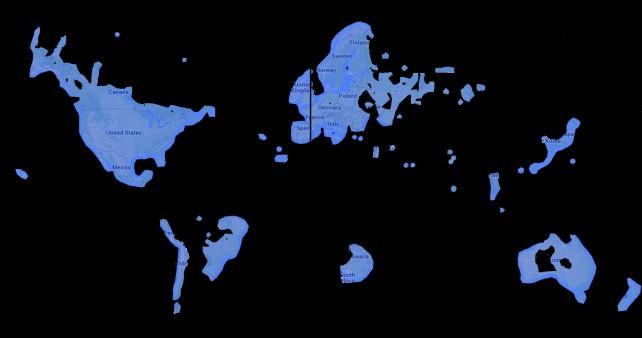 the world through google maps